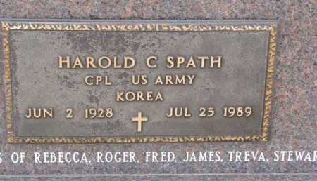 SPATH, HAROLD C. (MILITARY) - Dodge County, Nebraska | HAROLD C. (MILITARY) SPATH - Nebraska Gravestone Photos