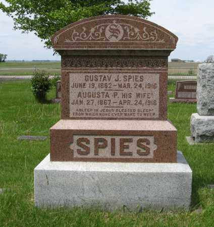 SPIES, GUSTAV J. - Dodge County, Nebraska | GUSTAV J. SPIES - Nebraska Gravestone Photos