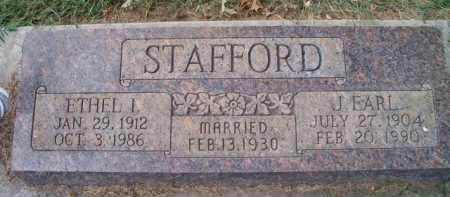 STAFFORD, J EARL - Dodge County, Nebraska | J EARL STAFFORD - Nebraska Gravestone Photos