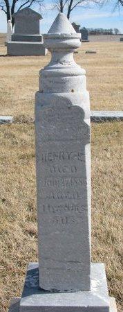 STARMER, HENRY E. - Dodge County, Nebraska   HENRY E. STARMER - Nebraska Gravestone Photos