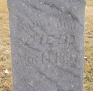 STARMER, INFANT DAUGHTER 1897 (CLOSE UP) - Dodge County, Nebraska   INFANT DAUGHTER 1897 (CLOSE UP) STARMER - Nebraska Gravestone Photos