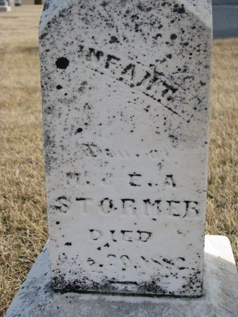 STARMER, INFANT DAUGHTER 1882 (CLOSE UP) - Dodge County, Nebraska | INFANT DAUGHTER 1882 (CLOSE UP) STARMER - Nebraska Gravestone Photos