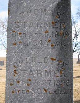 STARMER, THOMAS (CLOSE UP) - Dodge County, Nebraska | THOMAS (CLOSE UP) STARMER - Nebraska Gravestone Photos