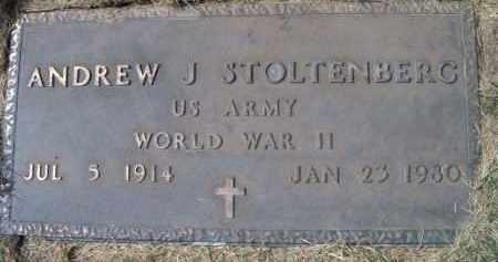 STOLTENBERG, ANDREW J. (MILITARY MARKER) - Dodge County, Nebraska | ANDREW J. (MILITARY MARKER) STOLTENBERG - Nebraska Gravestone Photos