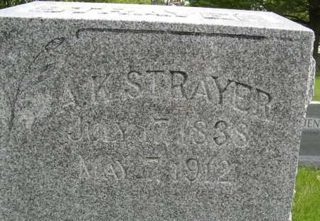 STRAYER, A. K. (CLOSE UP) - Dodge County, Nebraska | A. K. (CLOSE UP) STRAYER - Nebraska Gravestone Photos