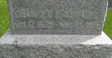 STRAYER, CHANCEY E. (CLOSE UP) - Dodge County, Nebraska | CHANCEY E. (CLOSE UP) STRAYER - Nebraska Gravestone Photos