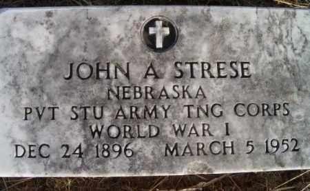 STRESE, JOHN A (MILITARY MARKER) - Dodge County, Nebraska | JOHN A (MILITARY MARKER) STRESE - Nebraska Gravestone Photos