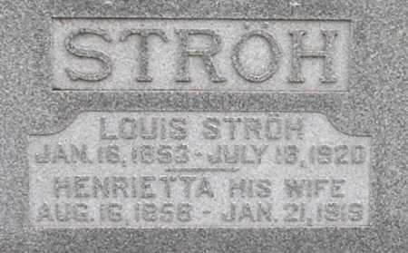 STROH, LOUIS - Dodge County, Nebraska | LOUIS STROH - Nebraska Gravestone Photos