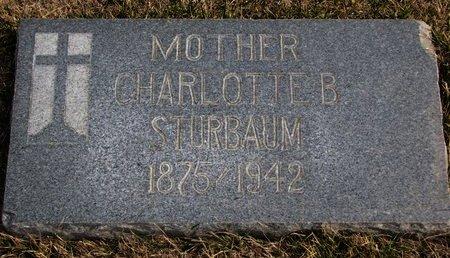 "FOY STURBAUM, CHARLOTTE B. ""LOTTIE"" - Dodge County, Nebraska | CHARLOTTE B. ""LOTTIE"" FOY STURBAUM - Nebraska Gravestone Photos"