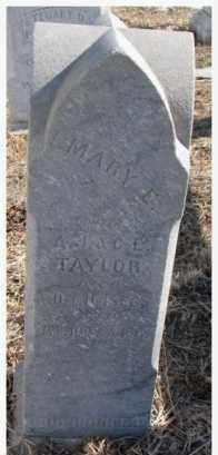TAYLOR, MARY E. - Dodge County, Nebraska | MARY E. TAYLOR - Nebraska Gravestone Photos