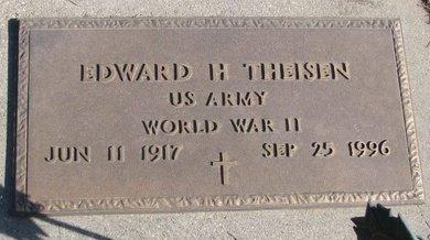THEISEN, EDWARD H. - Dodge County, Nebraska   EDWARD H. THEISEN - Nebraska Gravestone Photos
