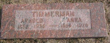 TIMMERMAN, ANNA - Dodge County, Nebraska   ANNA TIMMERMAN - Nebraska Gravestone Photos