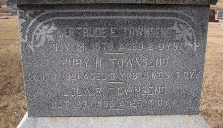 TOWNSEND, GERTRUDE E. (CLOSE UP) - Dodge County, Nebraska | GERTRUDE E. (CLOSE UP) TOWNSEND - Nebraska Gravestone Photos