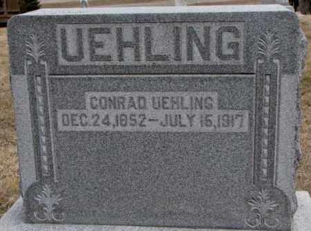 UEHLING, CONRAD - Dodge County, Nebraska   CONRAD UEHLING - Nebraska Gravestone Photos