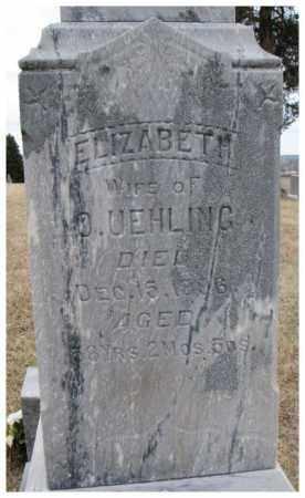UEHLING, ELIZABETH - Dodge County, Nebraska | ELIZABETH UEHLING - Nebraska Gravestone Photos
