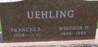 UEHLING, FRANCES S. - Dodge County, Nebraska | FRANCES S. UEHLING - Nebraska Gravestone Photos