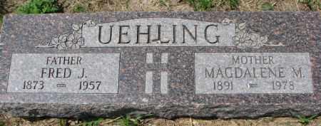 UEHLING, FRED J. - Dodge County, Nebraska | FRED J. UEHLING - Nebraska Gravestone Photos