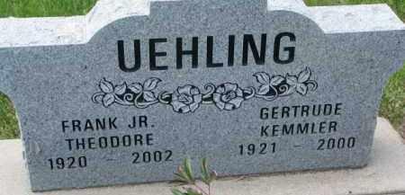 KEMMLER UEHLING, GERTRUDE - Dodge County, Nebraska | GERTRUDE KEMMLER UEHLING - Nebraska Gravestone Photos