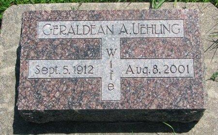 UEHLING, GERALDEAN A. - Dodge County, Nebraska | GERALDEAN A. UEHLING - Nebraska Gravestone Photos