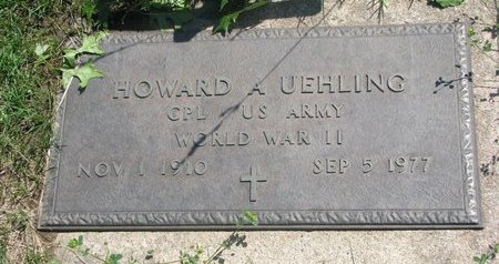 UEHLING, HOWARD A. (MILITARY) - Dodge County, Nebraska | HOWARD A. (MILITARY) UEHLING - Nebraska Gravestone Photos