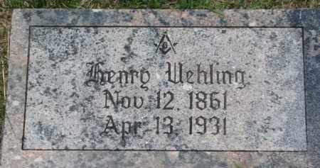 UEHLING, HENRY - Dodge County, Nebraska | HENRY UEHLING - Nebraska Gravestone Photos