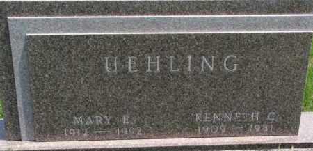 UEHLING, KENNETH C. - Dodge County, Nebraska | KENNETH C. UEHLING - Nebraska Gravestone Photos