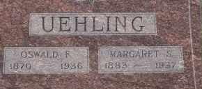 UEHLING, MARGARET S. - Dodge County, Nebraska | MARGARET S. UEHLING - Nebraska Gravestone Photos