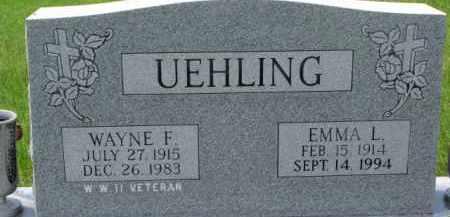 UEHLING, EMMA L. - Dodge County, Nebraska | EMMA L. UEHLING - Nebraska Gravestone Photos