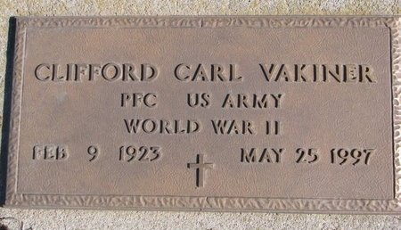 VAKINER, CLIFFORD CARL (MILITARY) - Dodge County, Nebraska   CLIFFORD CARL (MILITARY) VAKINER - Nebraska Gravestone Photos