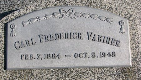 VAKINER, CARL FREDERICK - Dodge County, Nebraska | CARL FREDERICK VAKINER - Nebraska Gravestone Photos