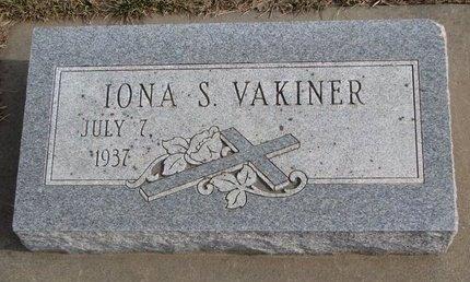 VAKINER, IONA S. - Dodge County, Nebraska   IONA S. VAKINER - Nebraska Gravestone Photos