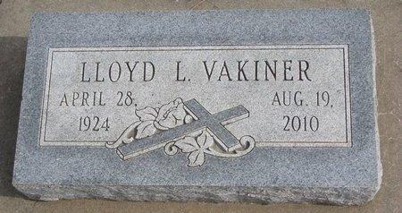VAKINER, LLOYD L. - Dodge County, Nebraska | LLOYD L. VAKINER - Nebraska Gravestone Photos