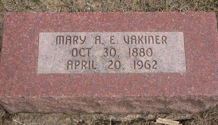VAKINER, MARY A.E. - Dodge County, Nebraska | MARY A.E. VAKINER - Nebraska Gravestone Photos