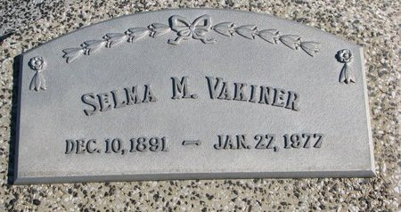 VAKINER, SELMA M. - Dodge County, Nebraska | SELMA M. VAKINER - Nebraska Gravestone Photos