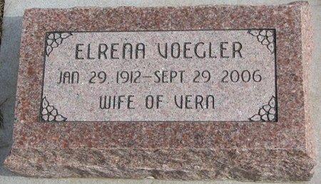VOEGLER, ELRENA - Dodge County, Nebraska | ELRENA VOEGLER - Nebraska Gravestone Photos