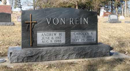 VON REIN, ANDREW H. - Dodge County, Nebraska | ANDREW H. VON REIN - Nebraska Gravestone Photos