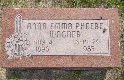 WAGNER, ANNA - Dodge County, Nebraska | ANNA WAGNER - Nebraska Gravestone Photos