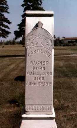 WAGNER, CAROLINE - Dodge County, Nebraska | CAROLINE WAGNER - Nebraska Gravestone Photos