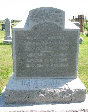 WAGNER, CLAUS - Dodge County, Nebraska | CLAUS WAGNER - Nebraska Gravestone Photos