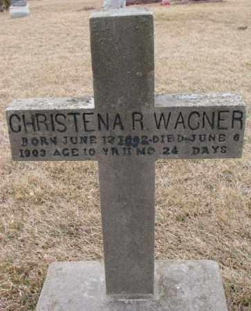 WAGNER, CHRISTENA R. - Dodge County, Nebraska | CHRISTENA R. WAGNER - Nebraska Gravestone Photos