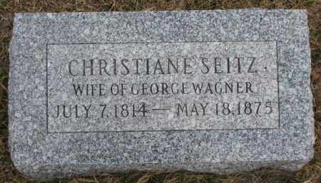 WAGNER, CHRISTIANE - Dodge County, Nebraska | CHRISTIANE WAGNER - Nebraska Gravestone Photos