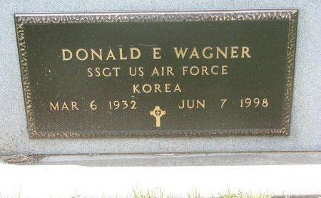 WAGNER, DONALD E. (MILITARY) - Dodge County, Nebraska | DONALD E. (MILITARY) WAGNER - Nebraska Gravestone Photos