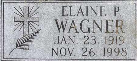 WAGNER, ELAINE - Dodge County, Nebraska   ELAINE WAGNER - Nebraska Gravestone Photos