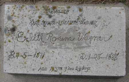 WAGNER, EDITH ROSENA - Dodge County, Nebraska | EDITH ROSENA WAGNER - Nebraska Gravestone Photos