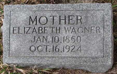 WAGNER, ELIZABETH - Dodge County, Nebraska   ELIZABETH WAGNER - Nebraska Gravestone Photos