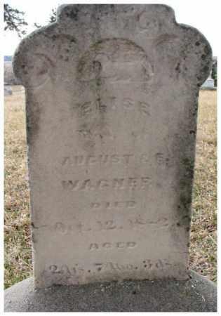 WAGNER, ELISE - Dodge County, Nebraska | ELISE WAGNER - Nebraska Gravestone Photos