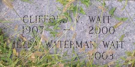 WAIT, CLIFFORD - Dodge County, Nebraska   CLIFFORD WAIT - Nebraska Gravestone Photos