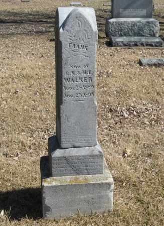 WALKER, FRANK - Dodge County, Nebraska | FRANK WALKER - Nebraska Gravestone Photos