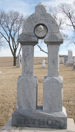 WATSON, SARAH - Dodge County, Nebraska | SARAH WATSON - Nebraska Gravestone Photos