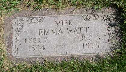 WATT, EMMA - Dodge County, Nebraska | EMMA WATT - Nebraska Gravestone Photos